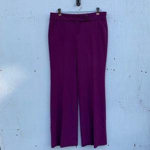 White House Black Market Purple Work Trouser Pants
